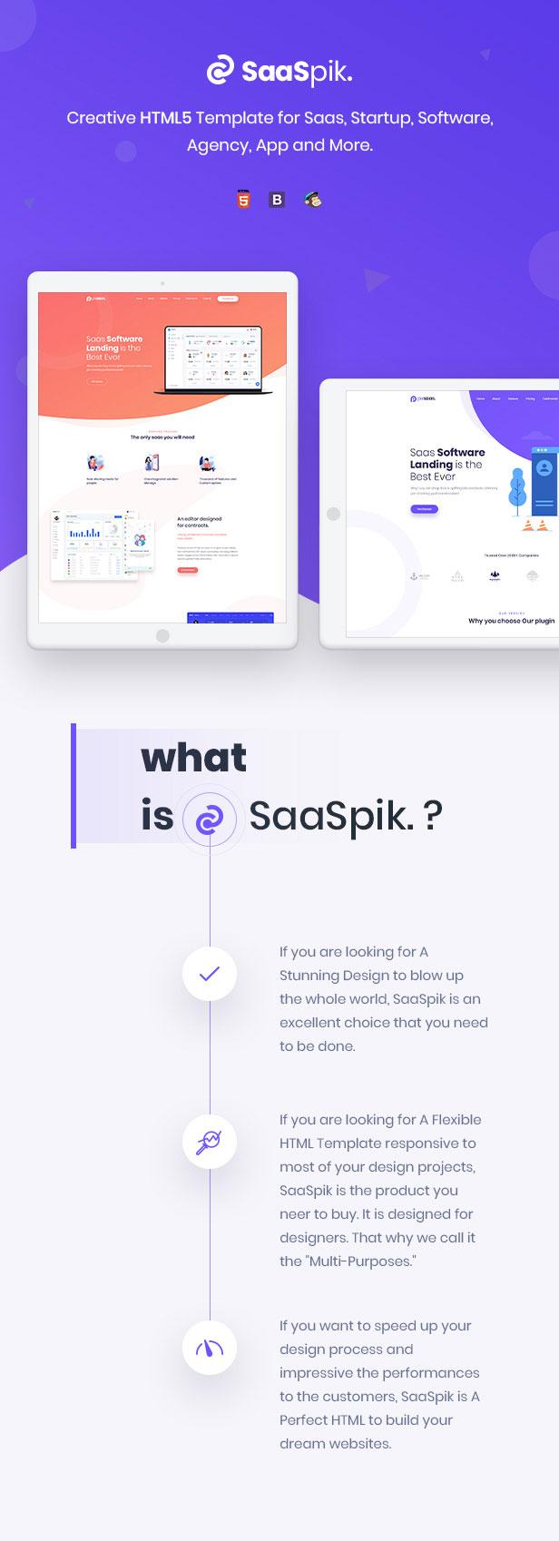 SaaSpik - App and SaaS landing HTML Template - 2