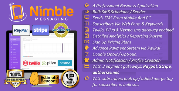 Nimble Messaging Professional SMS Marketing Application For Business
