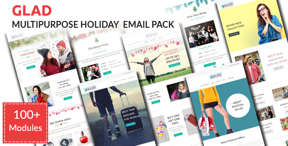 Christy - Responsive Christmas Email Template with Stampready Builder Access - 1