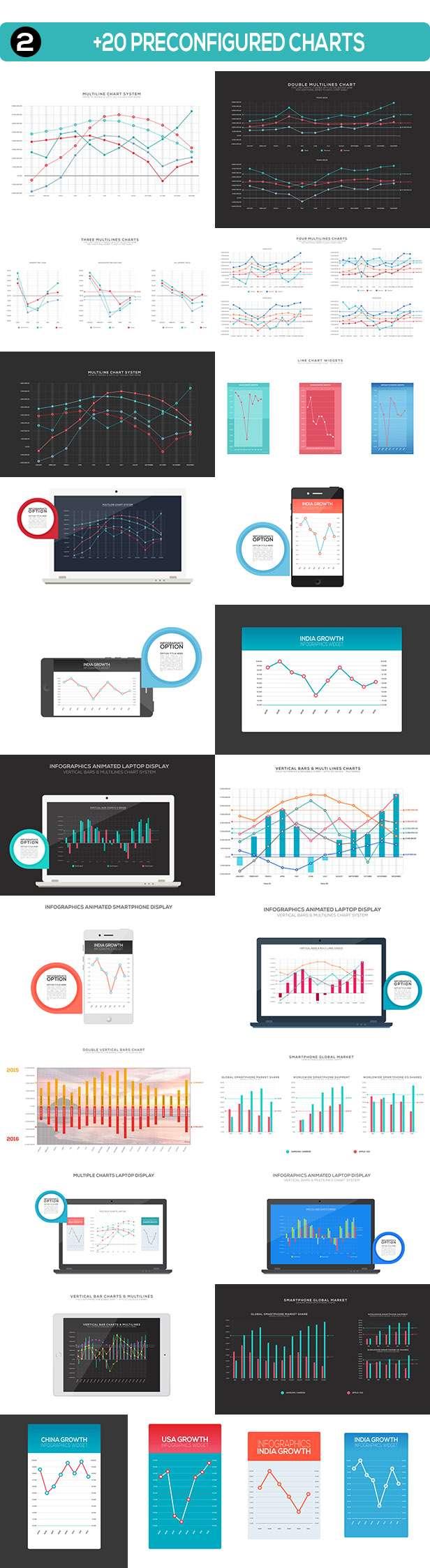4K NextGen statistics Charts pack one Preconfigured Included Charts