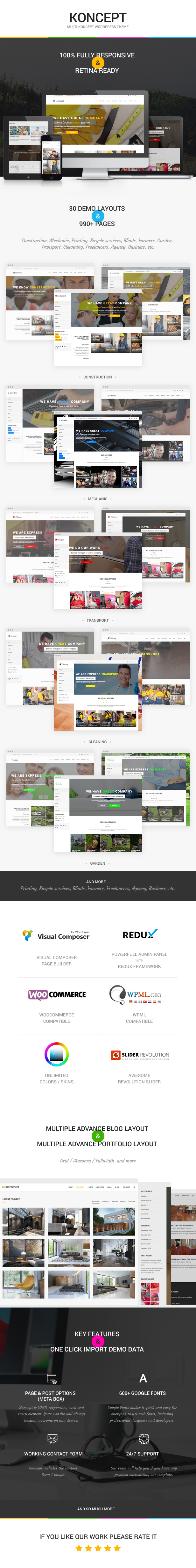 Koncept - Responsive Multi-Concept Wordpress Theme - 1