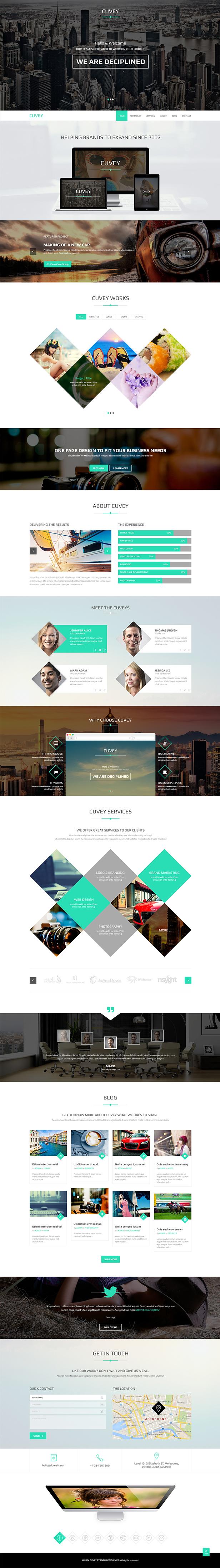 Cuvey | Multi-Purpose Parallax PSD Landing Page  - 5
