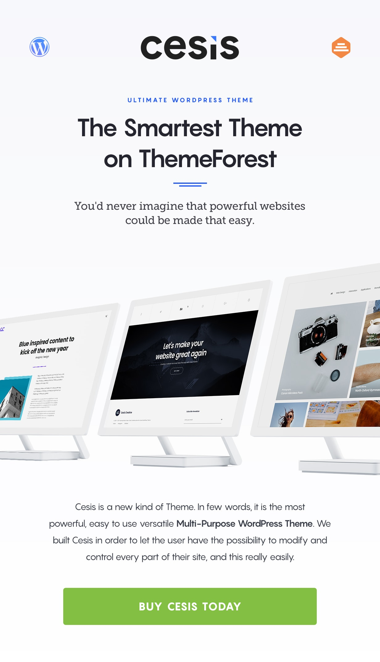 cesis wordpress theme - the powerful theme on themeforest
