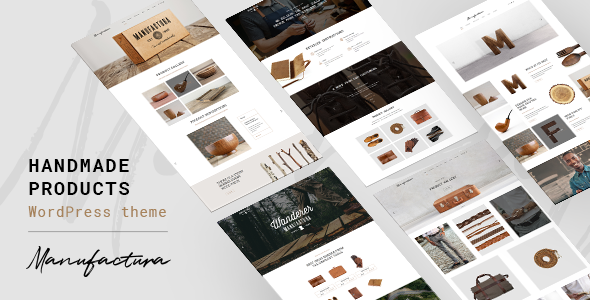 Manufactura - Handmade Products WordPress Theme