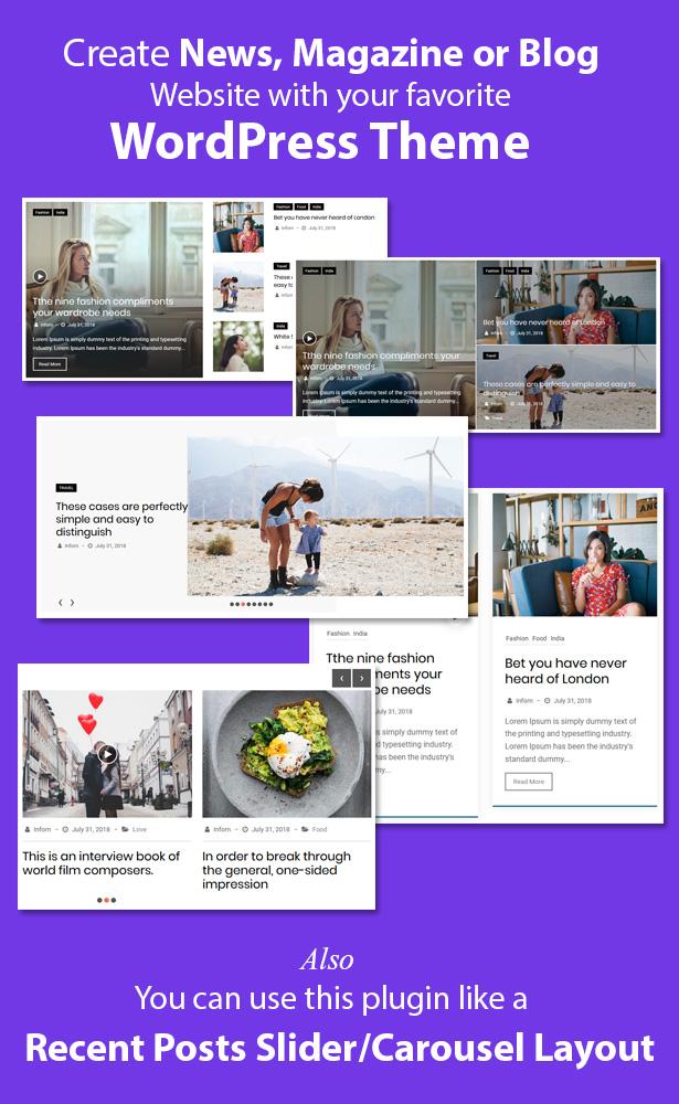 News & Blog Designer Pack Pro - News and Blog Plugin for WordPress - 4