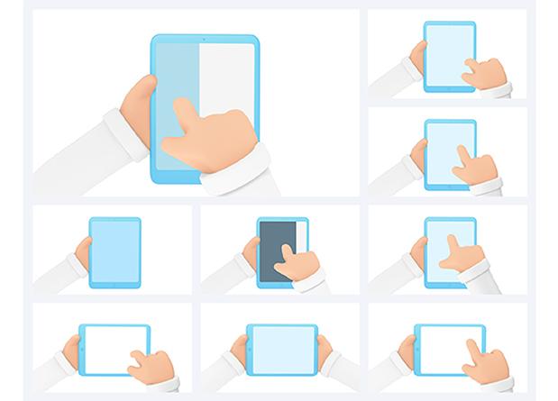 3D Hand Gestures | Mockup Device - 2