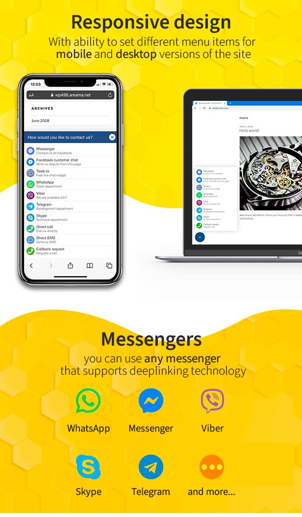 responsive, messengers