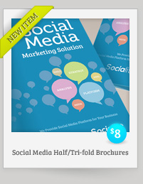 Social Media Half-fold and Trifold brochures