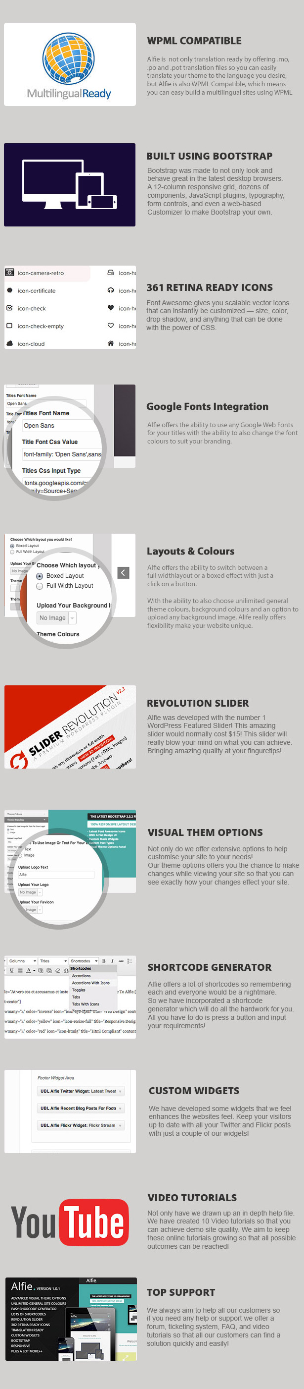 Alfie The Responsive Bootstrap WordPress Theme