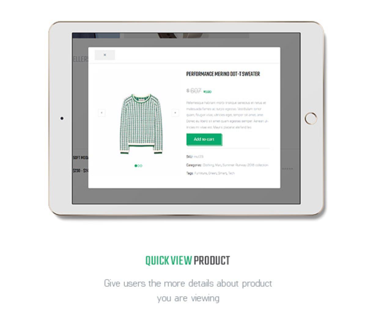Littlemonsters Product Quick View Sport Shop Woocommerce WordPress Themes