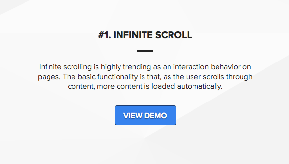 Wordpress template with infinite scrolling pagination