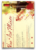 Wine and Art Mixer Flyer Template