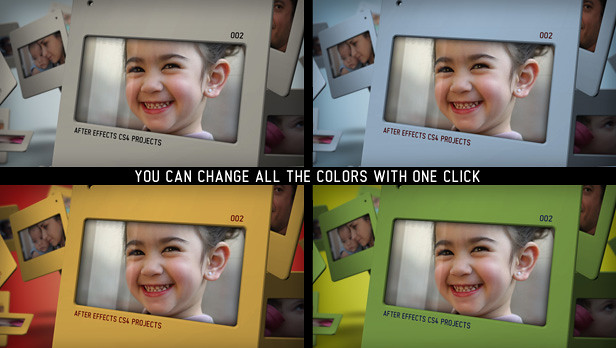 Slides 3D portfolio colors