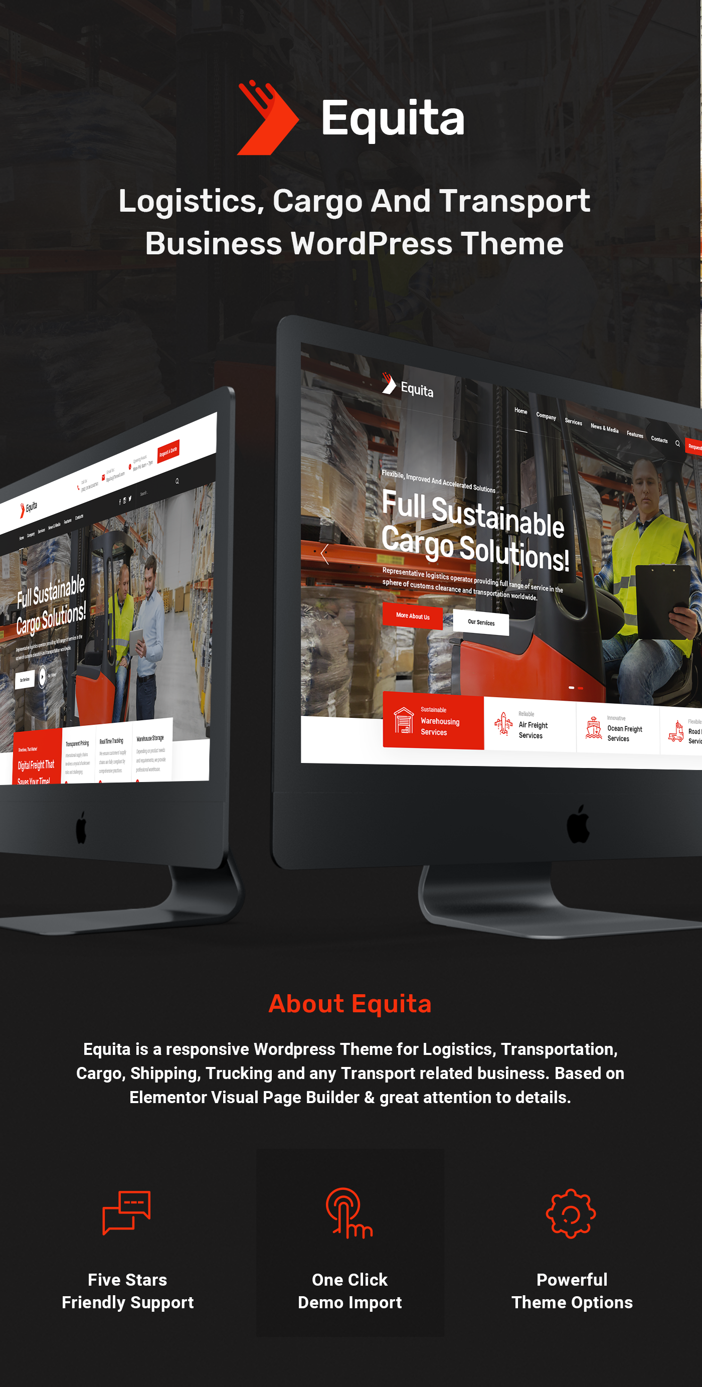 Equita - Logistics Cargo WordPress Theme - 5