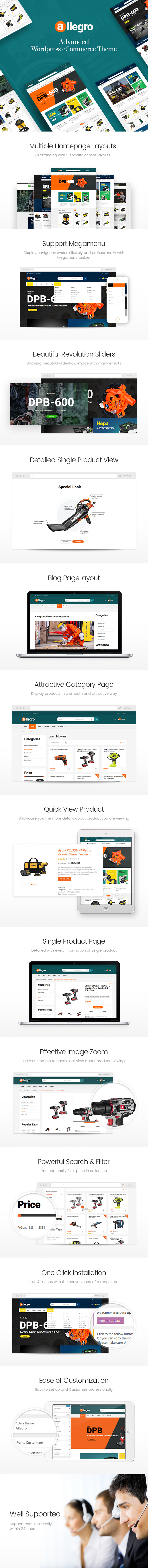 Allegro - WooCommerce WordPress Theme for Hand Tool & Equipment Stores