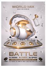DJ World Mix Battle Template - 1