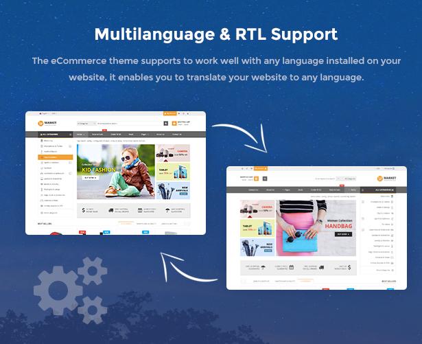 Market - Premium Responsive Magento 2 & 1.9 Store Theme - RTL