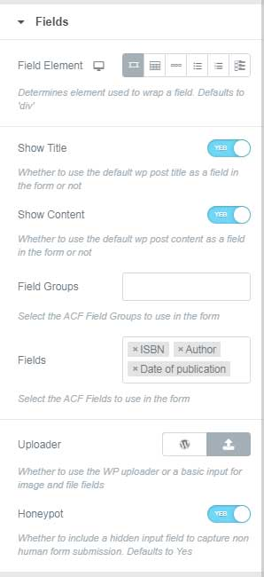 Fields Attributes