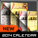 Stamp Greeting Card with Calendar 2014 - 8