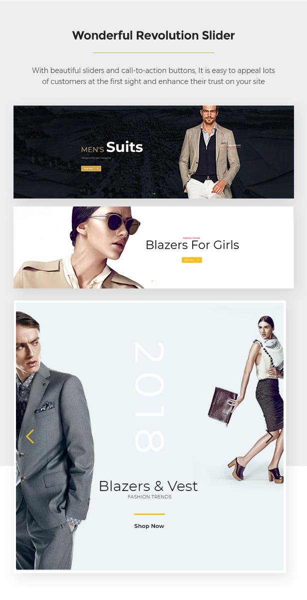 Slider Revolution Limonta - Modern Fashion WooCommerce WordPress Theme