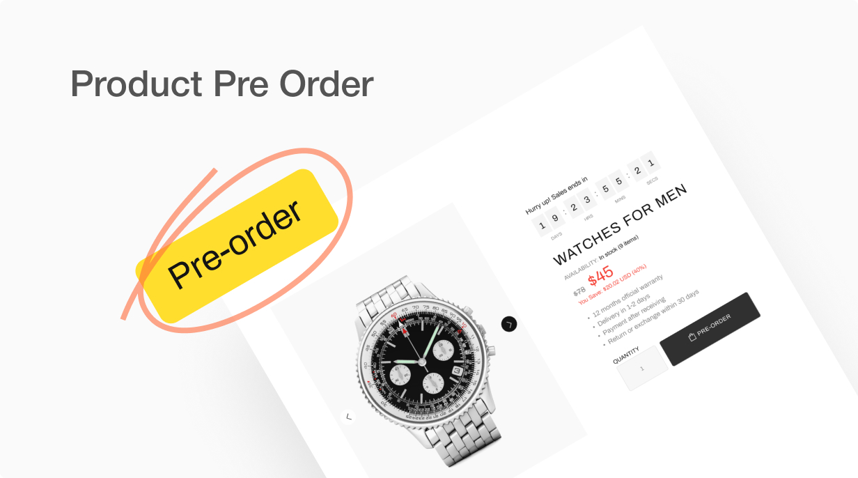 Product Pre Order