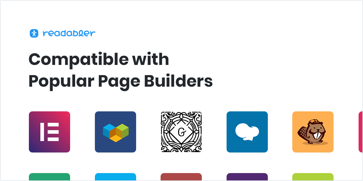Compatible with Popular Page Builders