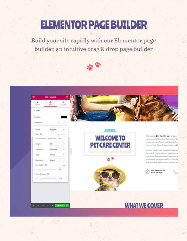 Petie - Pet Care Center & Veterinary WordPress Theme Elementor Page Builder