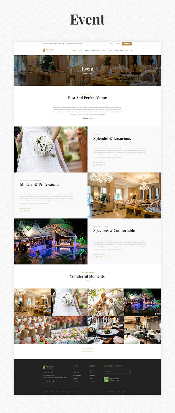 Sparta | Hotel & Resort HTML5 Template