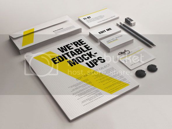 Realistic Stationery Mock-Up Set 1 - Corporate ID - 1