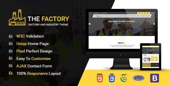 The Factory - Construction, Factory and Industry HTML5 Template
