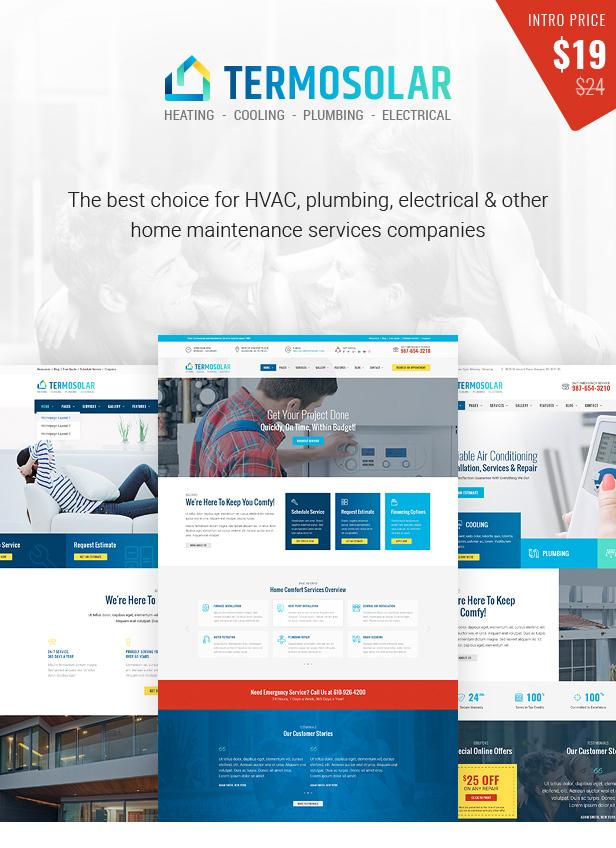 Termosolar - Installation, Repair & Maintenance Services HTML Template - 1