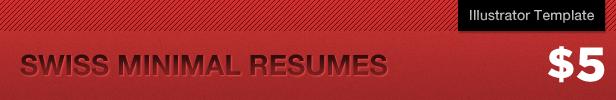 Swiss Minimal Resumes