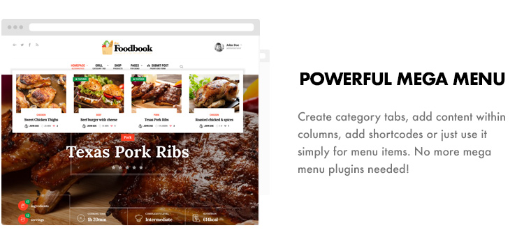 Foodbook - Receita da Comunidade, Blog, Food & Restaurant Theme - 13