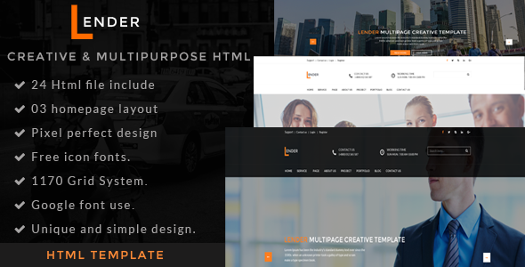 Lander | Multipurpose HTML5 Template - Creative Site Templates