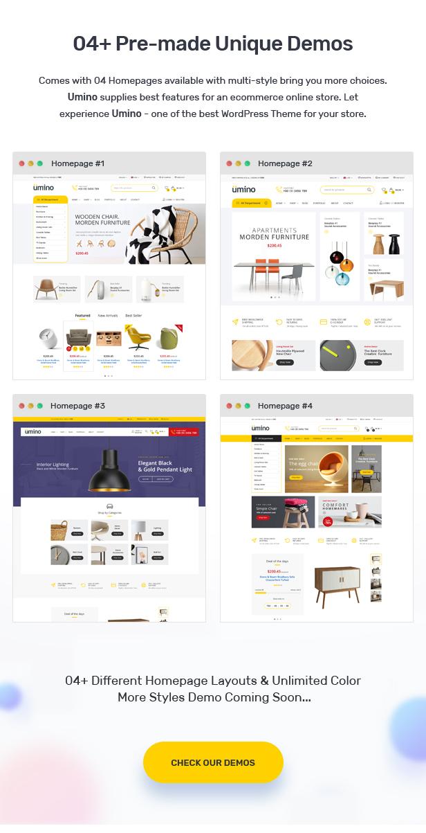 Umino - Furniture & Interior for WooCommerce WordPress 23