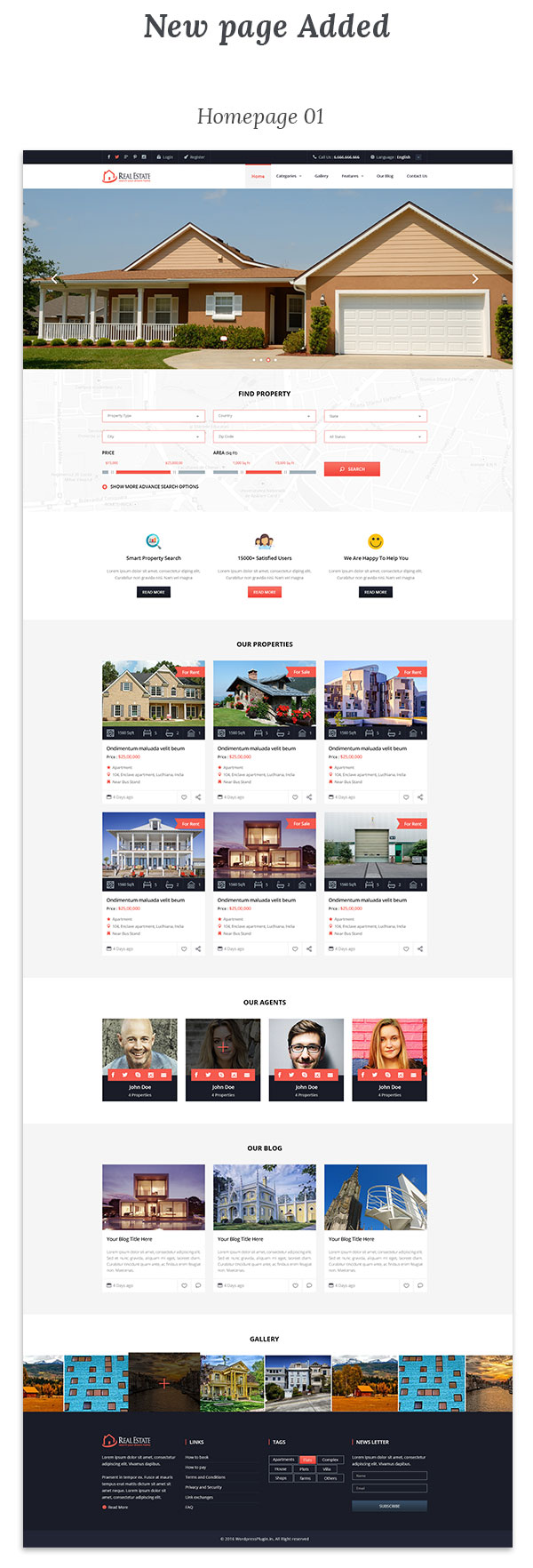 Real Estate Wordpress Theme - 4