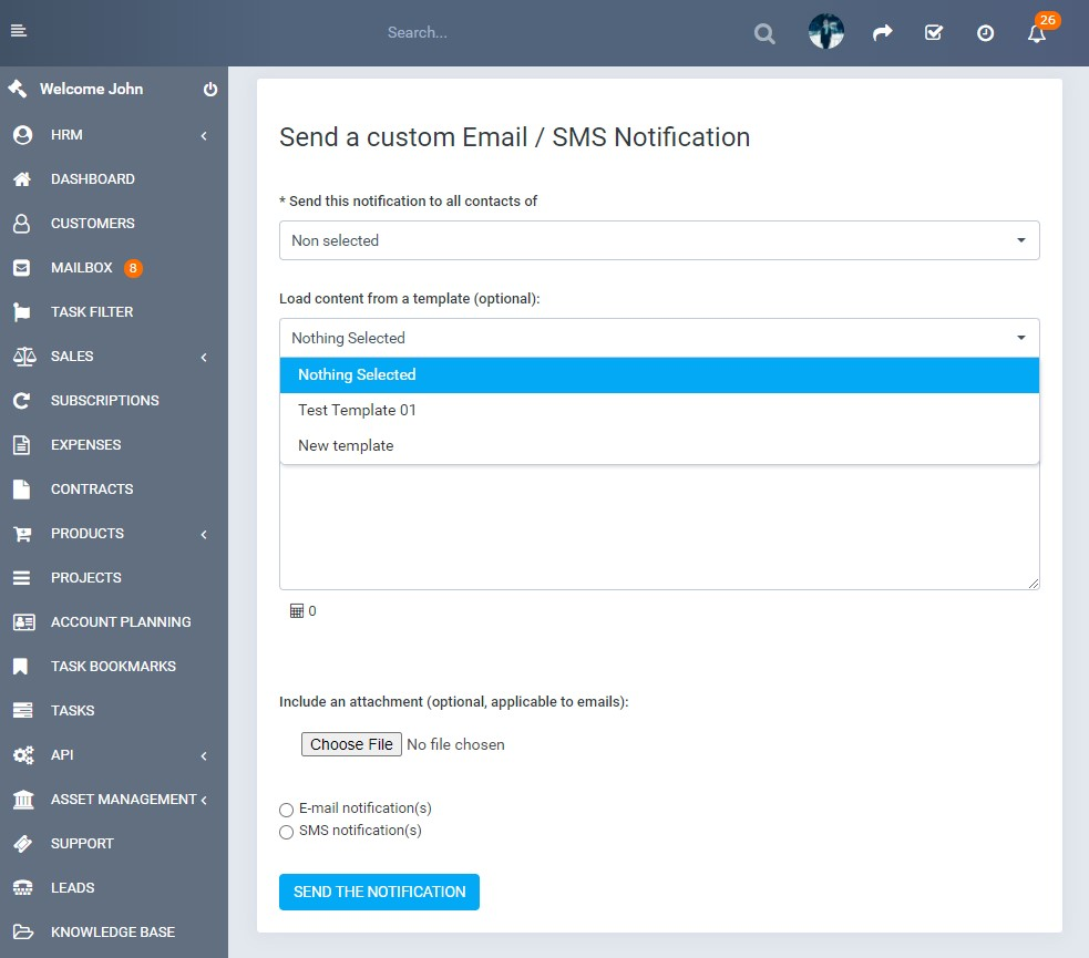 Custom SMS & Email Notifications for Perfex CRM - 6