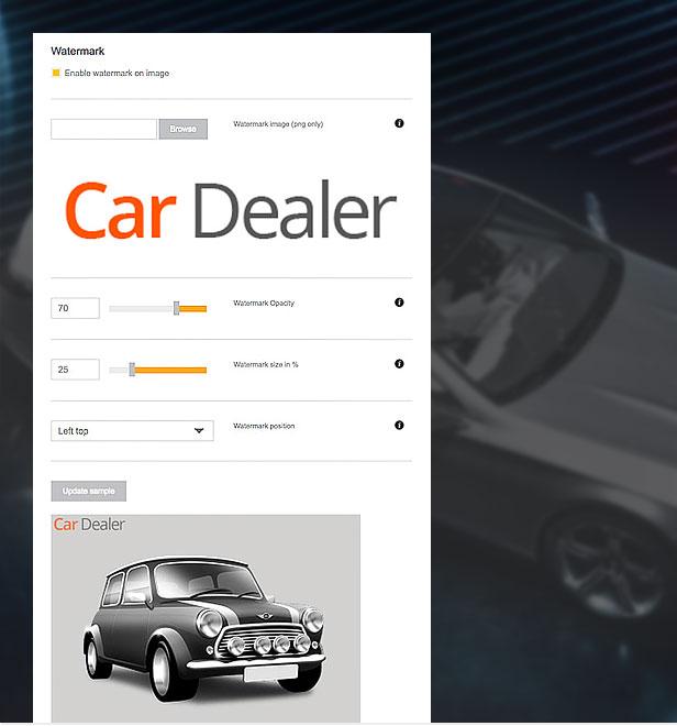 wordpress car template image branding