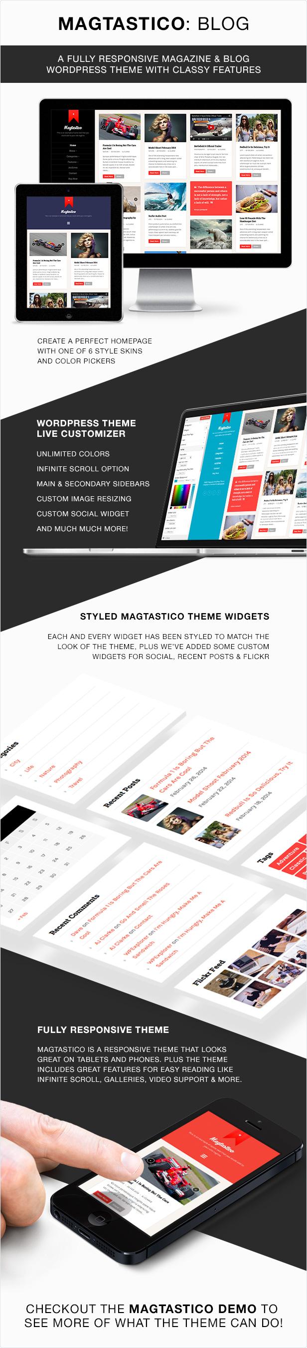 Magtastico WordPress Theme Features