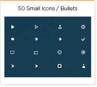 50 small icons - bullets