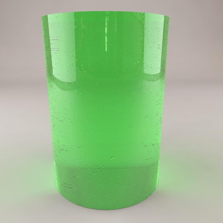 Fizzy drink 3d material