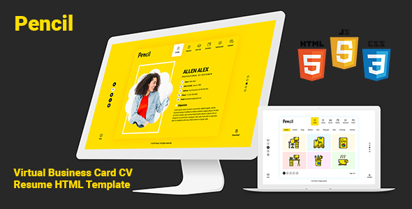 Virtual Business Card Cv Resume Psd Template By Createuiux
