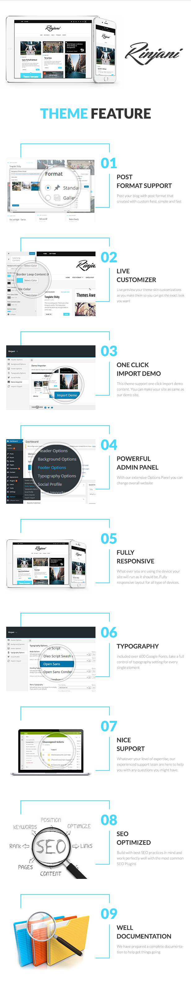 A Responsive Grid Blog Theme - Rinjani - 1