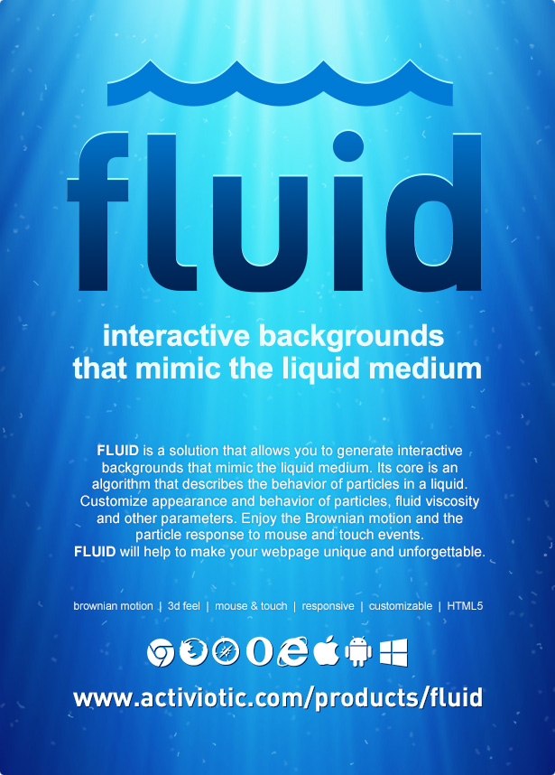 Fluid | Interactive Animated Backgrounds - 2