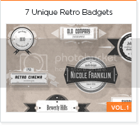 7 unique retro badges