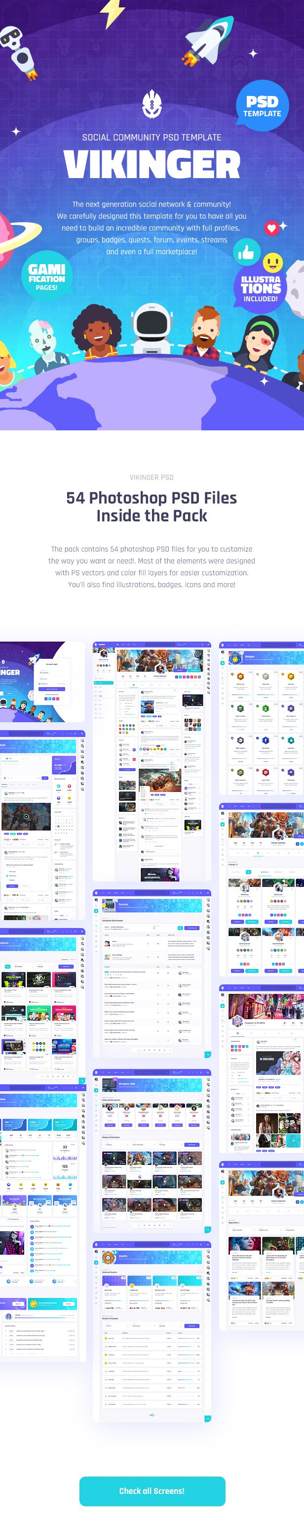 Vikinger - Social Network and Marketplace PSD Template - 10