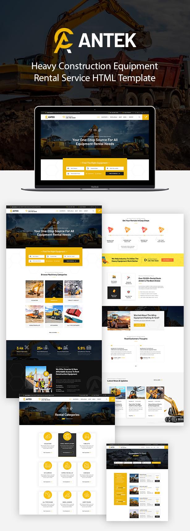 Antek-建筑设备租赁HTML模版