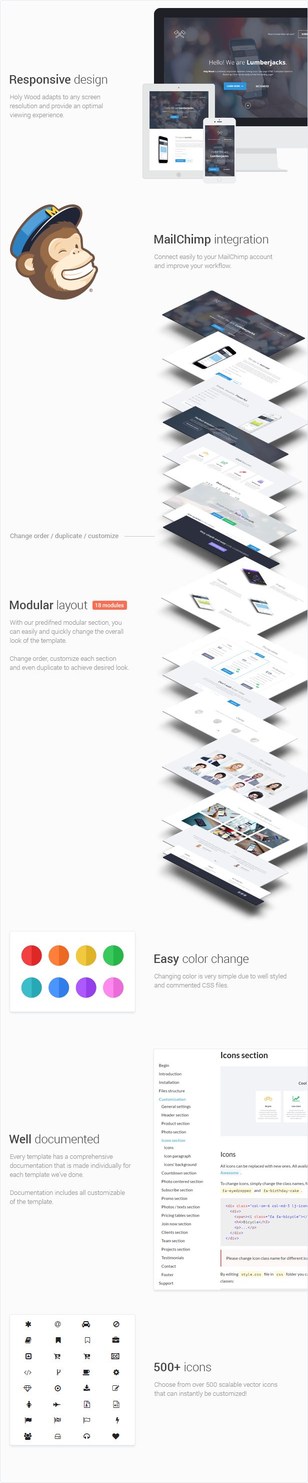 Holy Wood - Multipurpose WordPress Landing Page