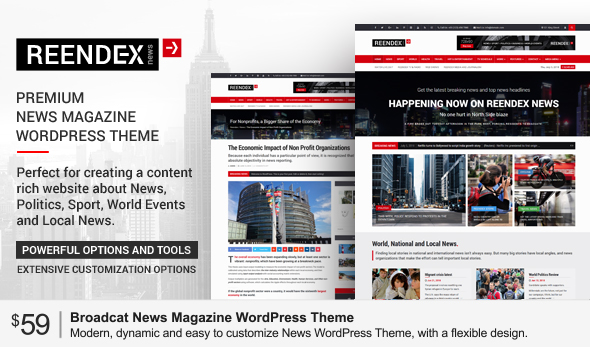 24h news broadcast news tv channel and news magazine template by