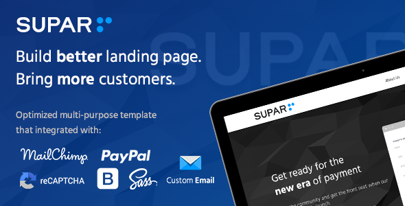 Supar Multi-purpose Landing Page